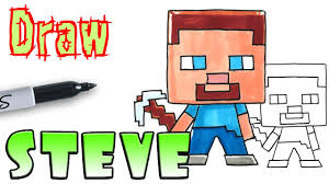 How To Draw Steve Minecraft Coloring Pages Youtube