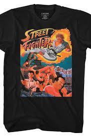 arcade flyer street fighter t shirt capcom mens t shirt