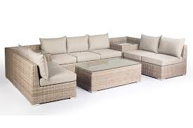 atlantic 7 seater outdoor modular lounge setting with coffee table