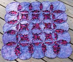 How to Make a Rag Quilt, Start to Finish Instructions & Curved Seams are a Cinch in this Cathedral Windows Rag Quilt Pattern Adamdwight.com