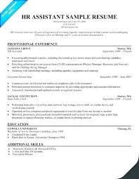 Sample Resume Simple Impressive Career Objective For Hr Generalist Resume Of Sample Resumes Freshers