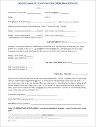 Sample Consultant Invoice Dascoop Info