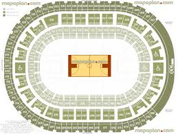 Palace Of Auburn Hills Seat Row Numbers Detailed Seating
