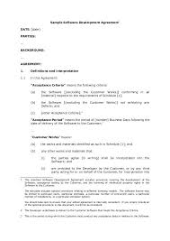 software developer contract template. Software Developer Contract Template Sample Software Development