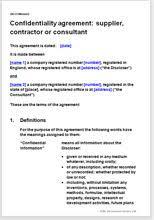 Consultant Nda Template - East.keywesthideaways.co