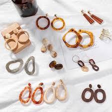 NEW <b>Leopard</b> Acrylic <b>earrings</b> acetate <b>earrings</b> Personality ...