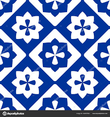 Blue And White Decorative Tiles Tile Indigo Blue White Decorative Floor Tiles Vector Pattern 30