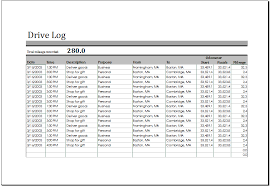 Excel Driver Log Sheet Template Ms Excel Printable Drive Log Template Formal Word Templates