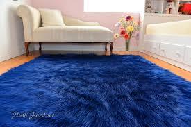 navy blue gy sheepskin flokati area rug baby boy nursery rugs boy