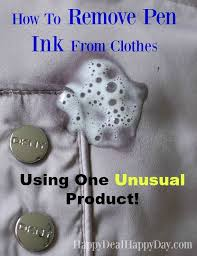 How to Remove Pen Ink From Clothes - Using One Unusual Product