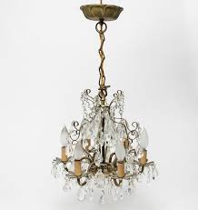 crystal chandelier with swags drop pendants by showplace antique design center bidsquare