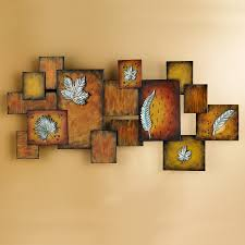 Abstract Wall Art Decorating Abstract Wall Art Panel Three Dimensional Burn  Brown Oil Painting White Frames