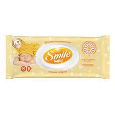 <b>Влажные салфетки Smile</b> Baby С экстрактом <b>ромашки</b> и алоэ с ...