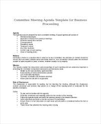 Agenda Meeting Template Word Gorgeous Committee Meeting Agenda Template 48 Free Word PDF Documents