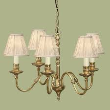 fitzroy solid brass 5 light chandelier beige shade traditional medium chandlier aby133p5w