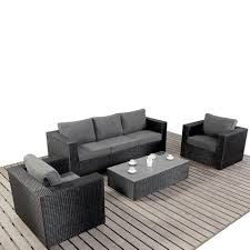 rattan outdoor furniture covers. port royal prestige black u0026 charcoal large sofa rattan garden furniture set outdoor covers
