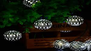 solar string lights outdoor globe lights by icicle 20ft 30 led 8 modes fair you