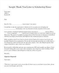 Fundraising Thank You Letter Templates Scholarship Donation Thank You Letter Template Sample Of