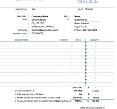 Invoice Template Hours Worked Word Spreadsheet Collections Resume