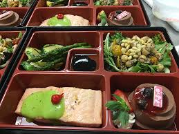 The first bento boxes created in the test program last week were healthy-choice themed Bento debut pilot at Bryan Med Center | Food Management