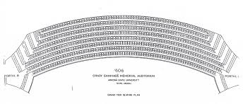 Gammage Seating Chart Arizona State University Tempe Arizona