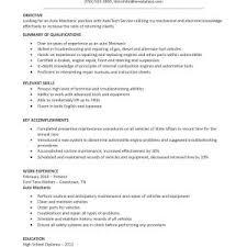 Industrial Maintenance Mechanic Sample Resume Sample Resume For Industrial Maintenance Technician Copy Maintenance 57