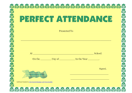 Attendance Certificate Template Best Photos Of Free Printable Perfect Attendance Certificates Free 20