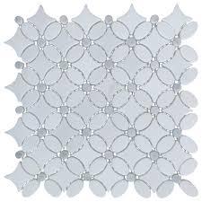 italian carrara white marble polished and fl design tile white sample