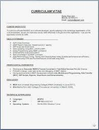 Free Resume For Freshers Best Of Free Resume Format Sample Download Wwwfreewareupdater