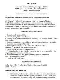 Free Film Production Assistant Resume Template Sample Ms Word