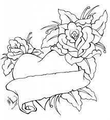 Coloring Pages Roses And Hearts - aecost.net | aecost.net