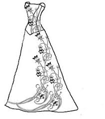 Small Picture coloring pages gowns Wedding dress coloring pages Coloring