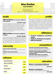 Yellow Resume Template For Architectplanner Vista Resume