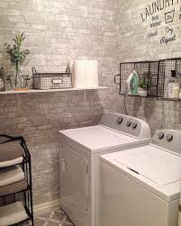 Laundry Room Wallpaper Designs Grey And White Brick Peel And Stick Wallpaper Laundry Room