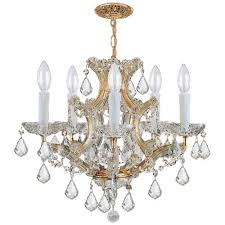 crystorama lighting group traditional crystal collection six light gold chandelier with majestic wood polished hand