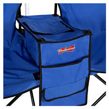 double folding chair with umbrella table cooler