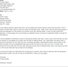 Cover Letter Examples For Nurses Brilliant Ideas Of Cover Letter
