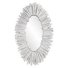 coastal oval framed wall mirror
