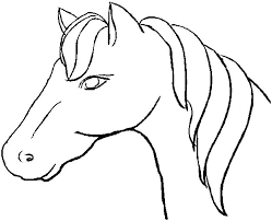 Kleurplaat Paarden Paard Quilting Drawings Paardenhoofd