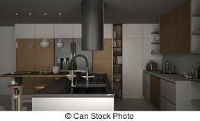 kitchen island close up. Modern Wooden Kitchen With Details, Close Up, Island. Island Up
