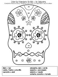 pictures of skulls to color. Delighful Skulls Spanish Sugar Skulls Color By Number Da De Los Muertos On Pictures Of To S