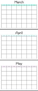 Template Running Calendar Template