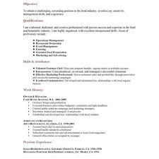 Hospitality Resume Resumes Objective Examples Outstanding In Ixiplay ...