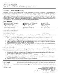 logistics objective resume