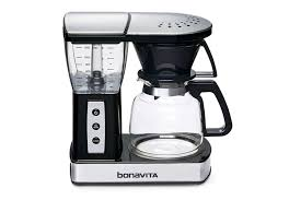 com bonavita 8 cup one touch coffee maker featuring glass carafe and warming plate bv01002us kitchen dining