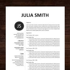 Resume Design Templates Extraordinary CV Professional Template CV Template Word Or Mac Pages Instant