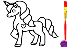 One of the cutest coloring pages of unicorns. Baby Unicorn Pictures To Color