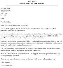 Cover Letter Examples Receptionist Hotel Receptionist Cover Letter Example Icover Org Uk