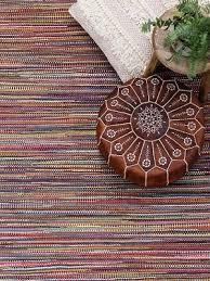 braid stripe rug rainbow