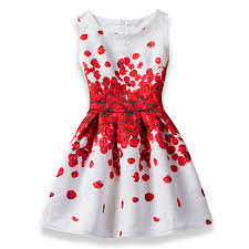 2019 Girls <b>Dress Summer</b> Butterfly Floral Print Teenagers <b>Dresses</b> ...
